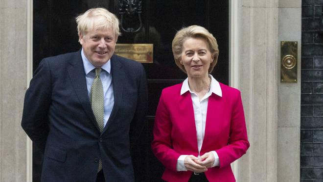 Boris Johnson and European Commission President Ursula von der Leyen
