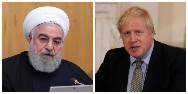 Hassan Rouhani and Boris Johnson had a phone conversation