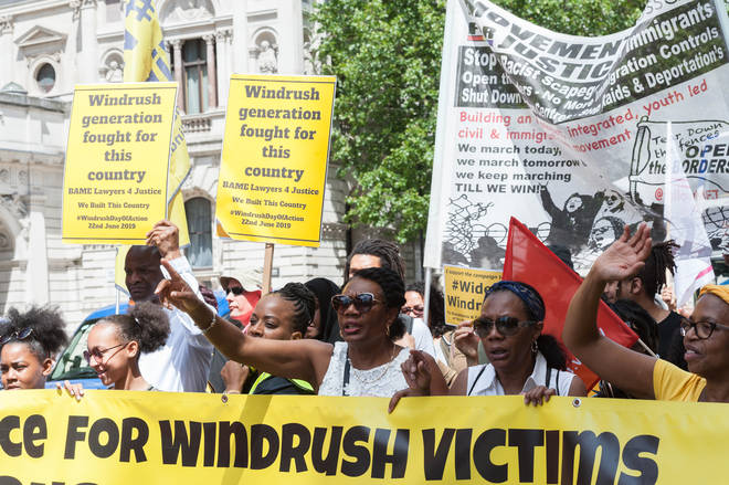 Windrush Day demonstration In London