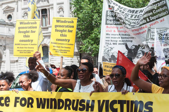 Windrush Day demonstration In London.