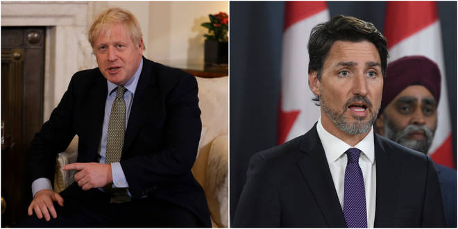 Boris Johnson and Justin Trudeau