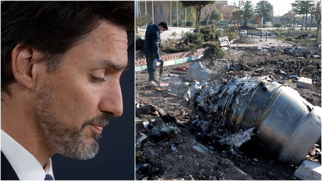 Canadian Prime Minister Justin Trudeau said there was evidence to suggest the airliner had been down by a missile.