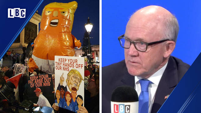 Woody Johnson insists the US are not interested in the NHS