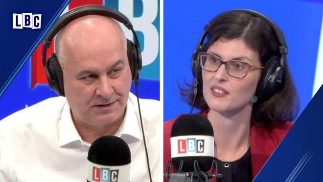 The moment happened during Iain Dale's phone-in with Layla Moran