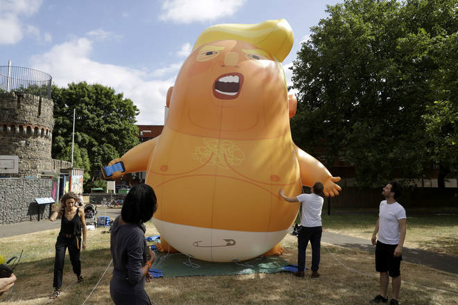 The Donald Trump Baby balloon