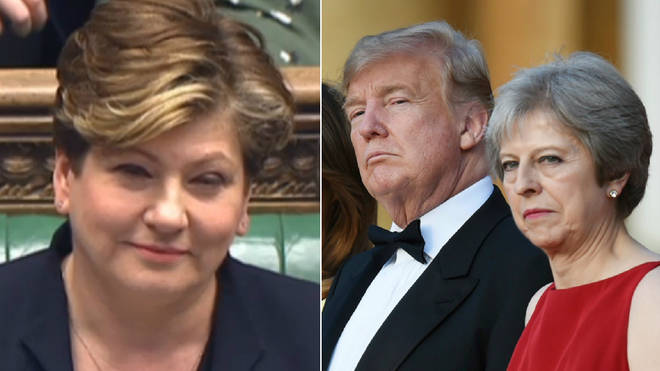 Emily Thornberry had strong words for Donald Trump