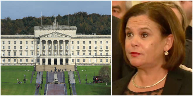 Mary Lou McDonald has said a draft deal has been agreed to bring back Stormont