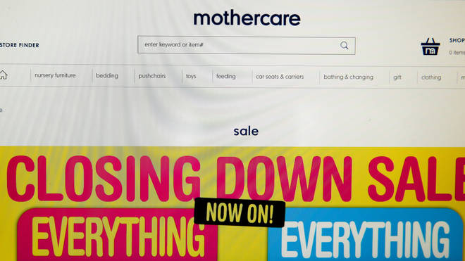 Mothercare's website has been closed off to customers