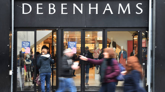 Debenhams will also be shutting down stores in the next week