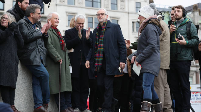 Jeremy Corbyn was at the rally in London