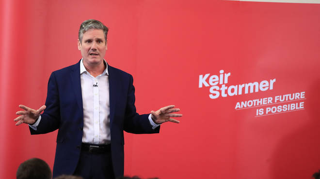 Sir Keir Starmer speaking in Manchester