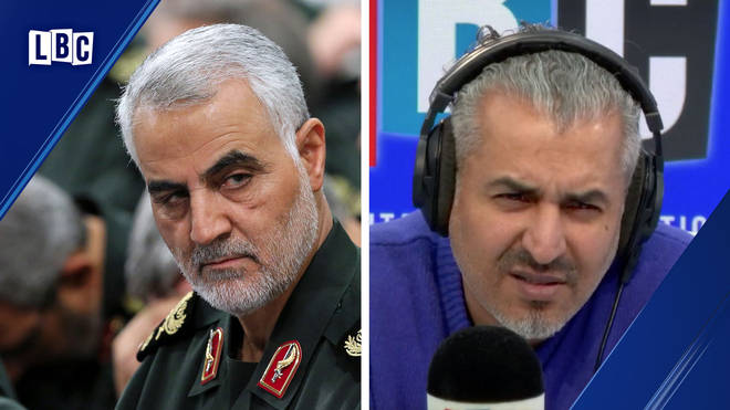 Maajid rowed with the caller over Soleimani