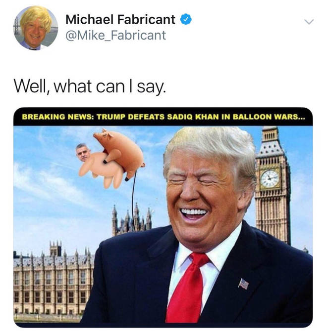 Michael Fabricant has since deleted the tweet