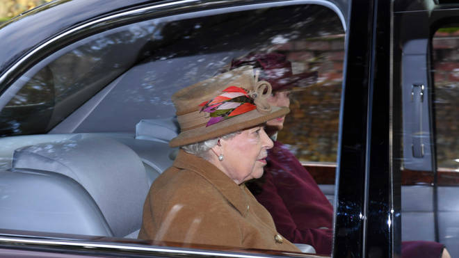 The Queen attended a church service on Sunday morning