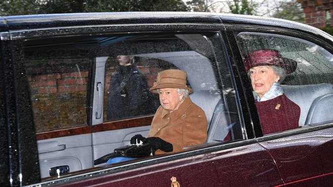 The Queen attended church yesterday