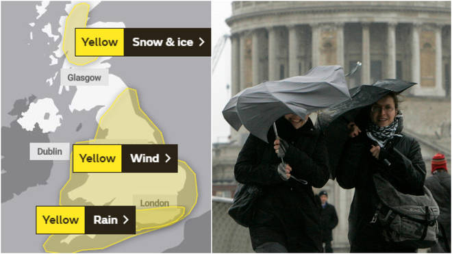 The Met Office has issued several weather warnings for Tuesday