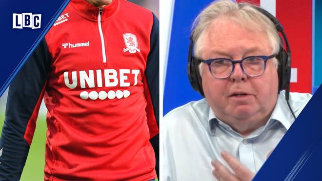 Nick Ferrari grills gambling minister on betting firms sponsoring football shirts