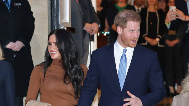 Harry and Meghan during a visit to Canada House last week