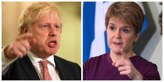 Boris Johnson has written to Scottish First Minister Nicola Sturgeon