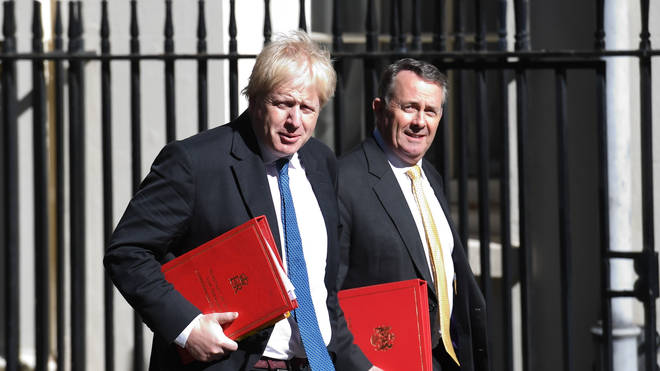 Boris Johnson with Dr Liam Fox