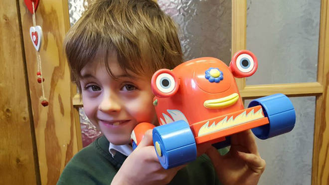Samuel Barker, seven, died after being hit by a council minibus