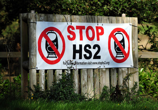 HS2 protesters have tried to block the path of construction workers