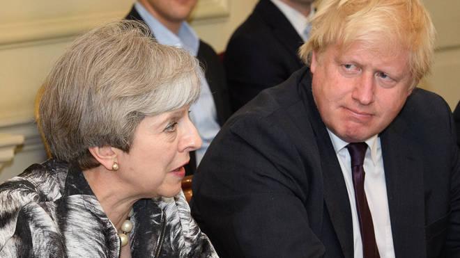 Boris Johnson Theresa May