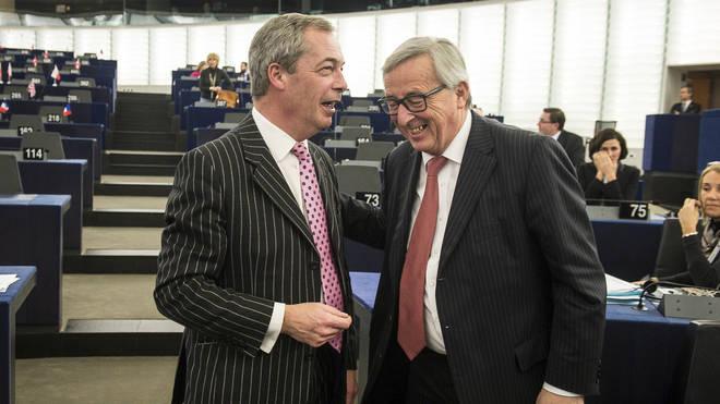 Nigel Farage responded to Jean-Claude Juncker