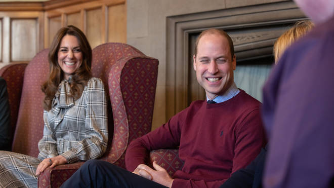Kate and William couldn't keep the smiles off their faces