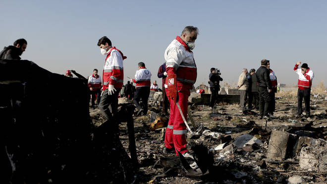 The plane was shot down just outside of Tehran
