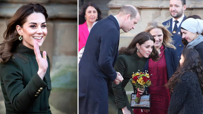The Duke and Duchess of Cambridge made a joint appearance in Bradford today