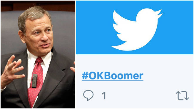 """Mr Roberts was contemplating whether """"OK, Boomer"""" was discriminatory"""
