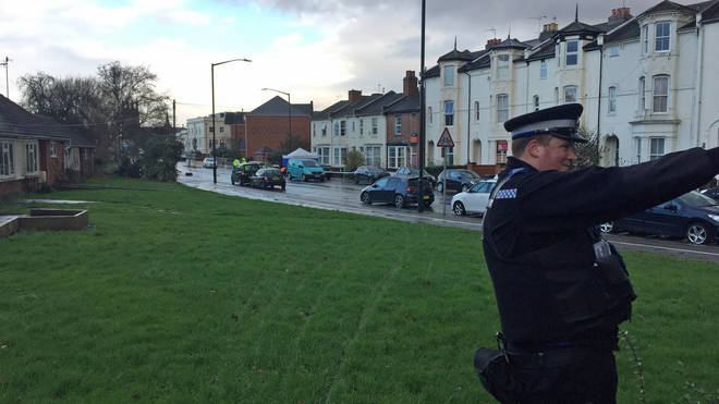 The incident happened on Tachbrook Road in Leamington Spa