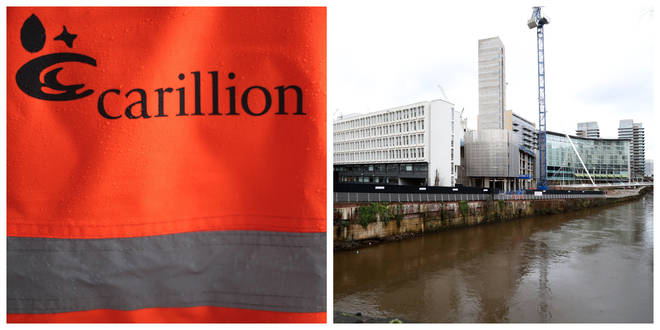 File photo: A deserted Carillion building site in Manchester after the company's collapse