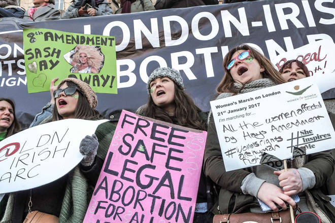 Pro-choice protesters fighting for the right to be autonomous