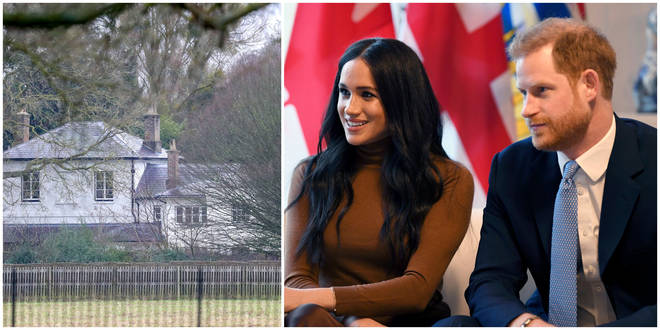 The staff of Frogmore Cottage are being moved while Harry and Meghan are in Canada