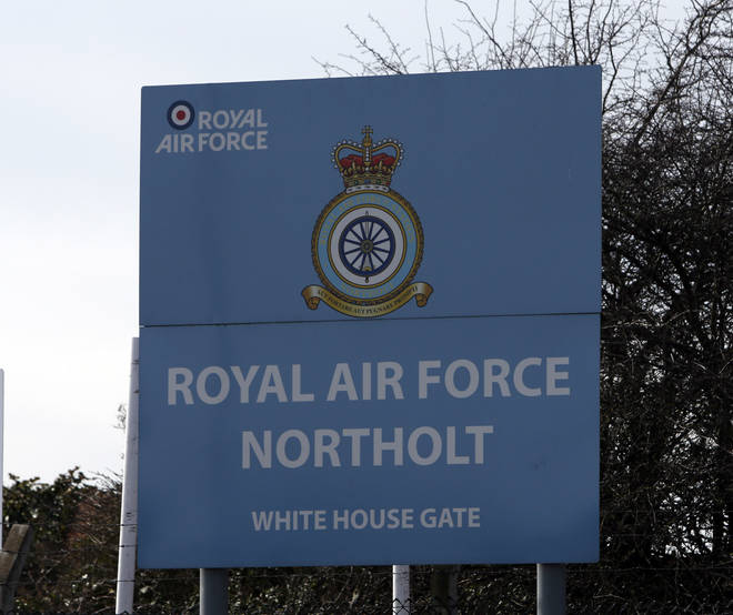 Planes were delayed due to a flight from RAF Northolt