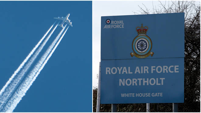 "The RAF said it ""regretted"" the delays caused to commercial flights"