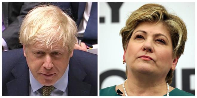 Boris Johnson and Emily Thornberry