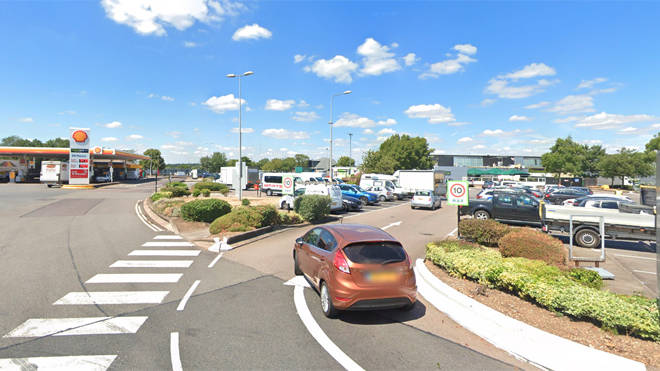 The boy was later found safe after going missing at Newport Pagnell services