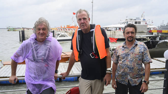 James May, Jeremy Clarkson and Richard Hammond, during a trip to Southeast Asia for the Amazon Prime Video show The Grand Tour