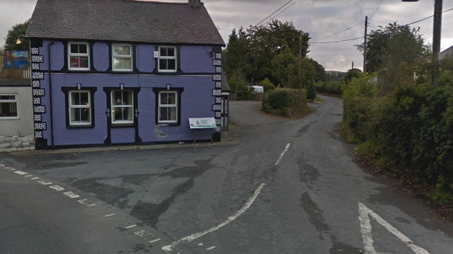 The fire happened in the small Welsh town of Ffair-Rhos