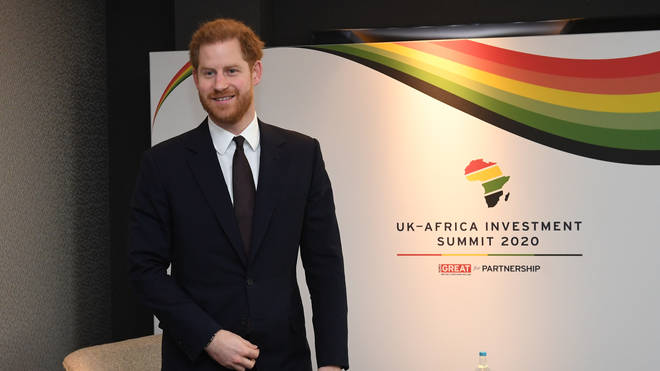 Prince Harry is seen at his final Royal engagement before jetting of to Canada