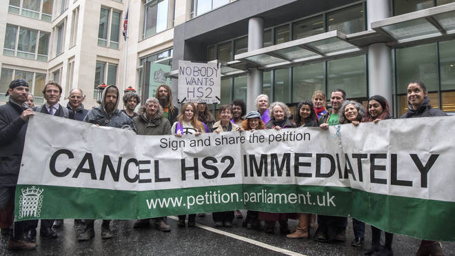 HS2 protesters after losing legal challenge against building line running through a woodland area in west London