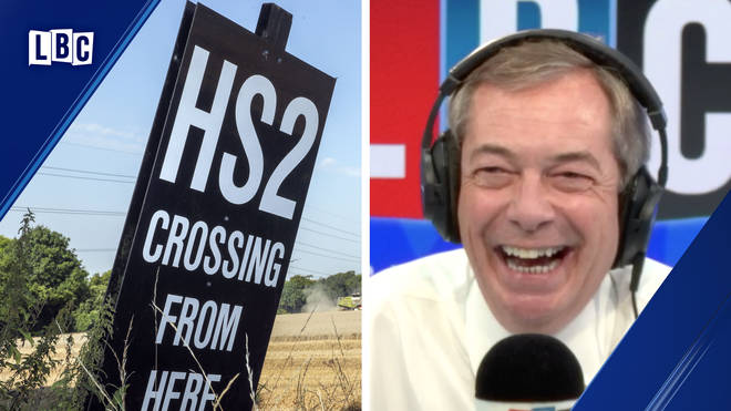 "Passionate caller makes case against ""ludicrous"" HS2 to Nigel Farage"