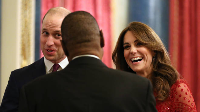 William and Kate hosted the glittering reception on Monday