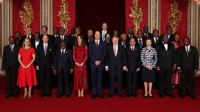 The Duke and Duchess of Cambridge, the Princess Royal and the Earl and Countess of Wessex join Heads of Government, Ministers and members of NGOs attending the UK-Africa Investment Summit