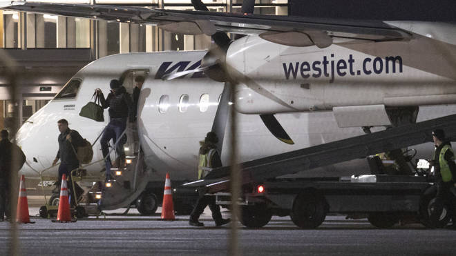 Harry arrived this morning on a WestJet aircraft