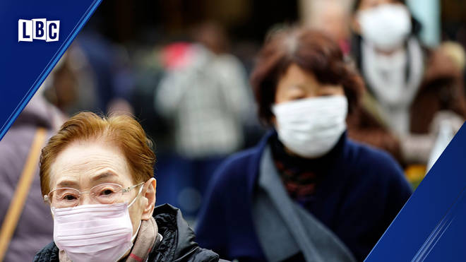 People in China protect themselves from the coronavirus