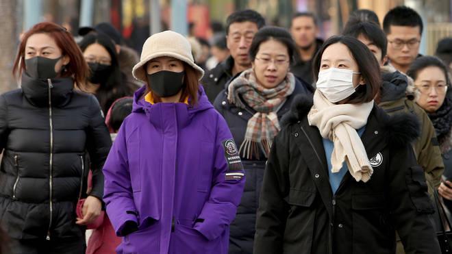 People have been wearing respiratory masks in Beijing